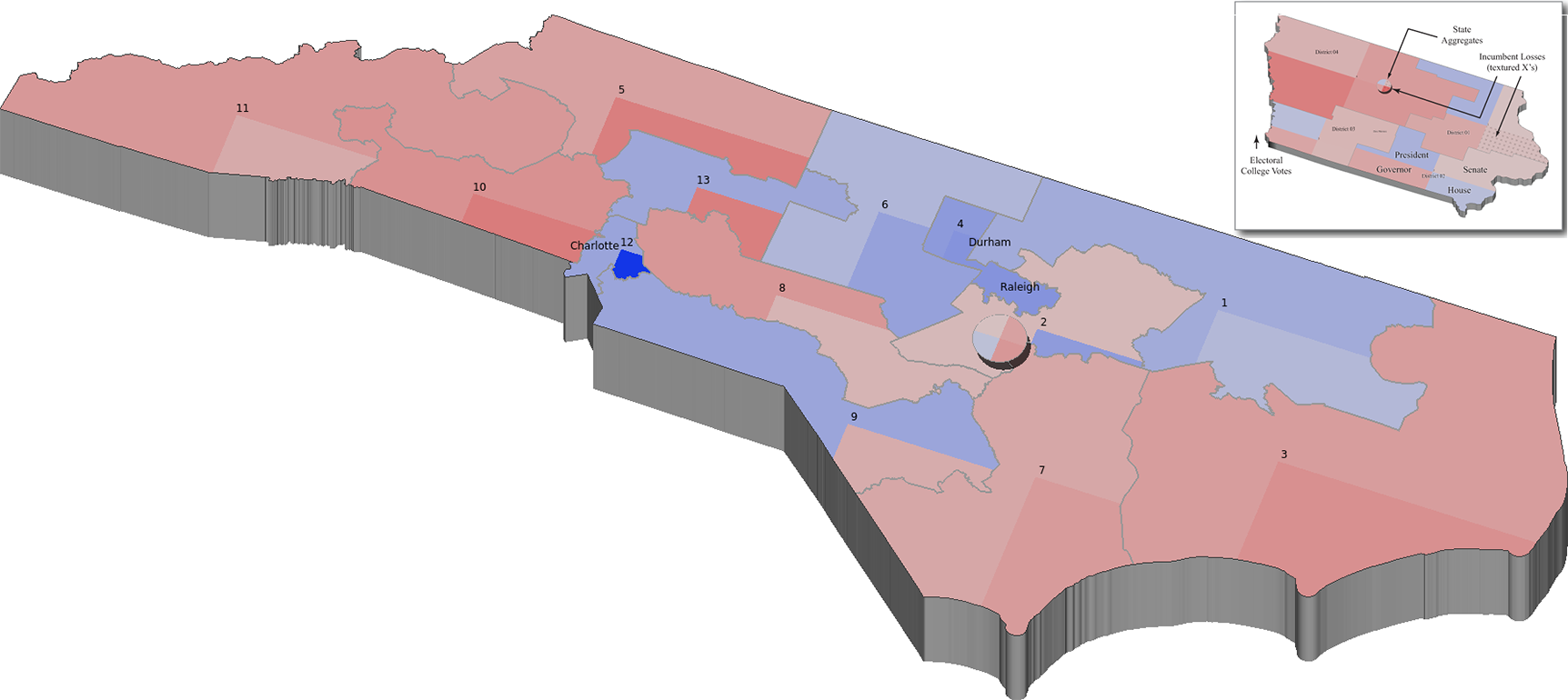 election results for north carolina larger image each of the 13 congressional districts