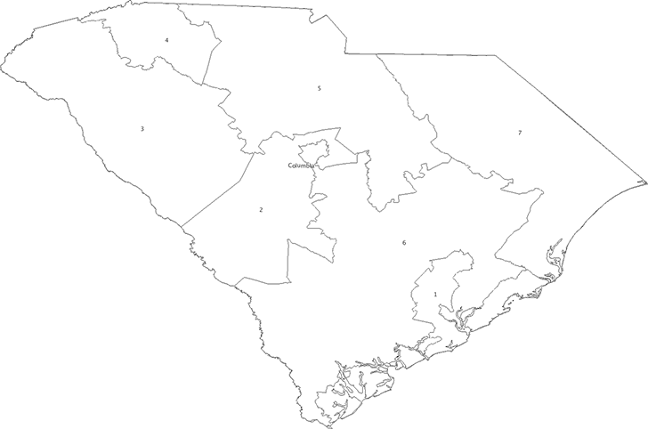 congressional districts larger image b south carolina s 46 counties larger image